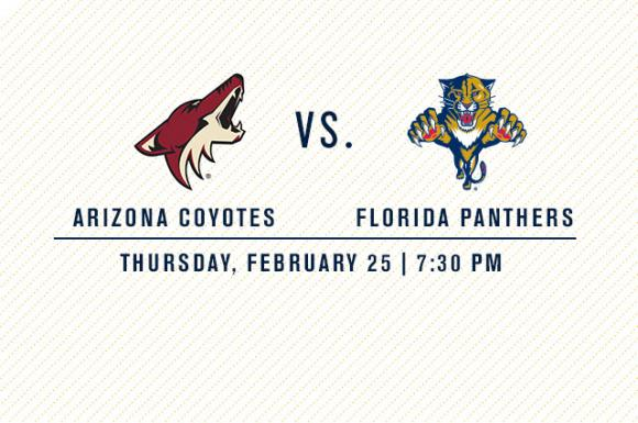 Arizona Coyotes vs. Florida Panthers at Gila River Arena
