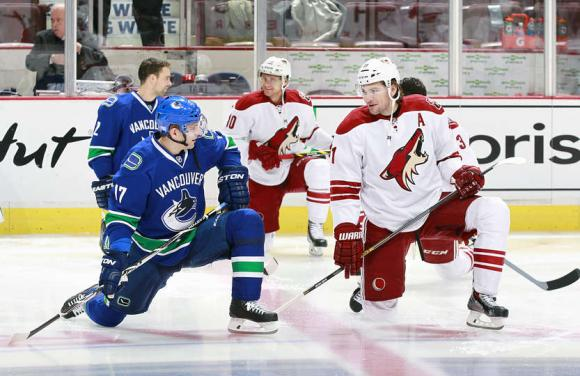 Arizona Coyotes vs. Vancouver Canucks at Gila River Arena