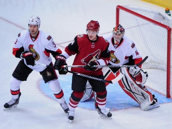 Arizona Coyotes vs. Ottawa Senators at Gila River Arena