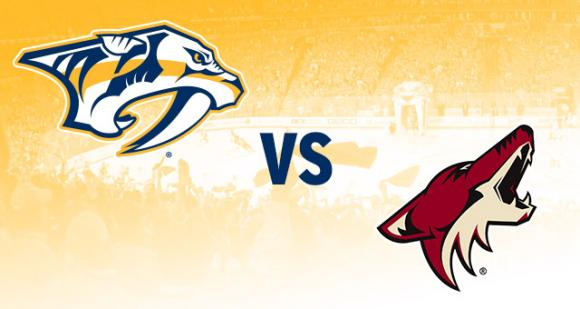 Arizona Coyotes vs. Nashville Predators at Gila River Arena