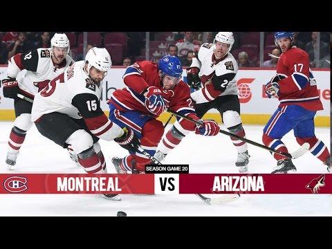 Arizona Coyotes vs. Montreal Canadiens at Gila River Arena