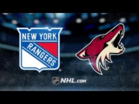 Arizona Coyotes vs. New York Rangers at Gila River Arena