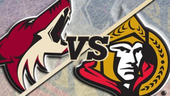 Arizona Coyotes vs. Ottawa Senators at Gila River Arena