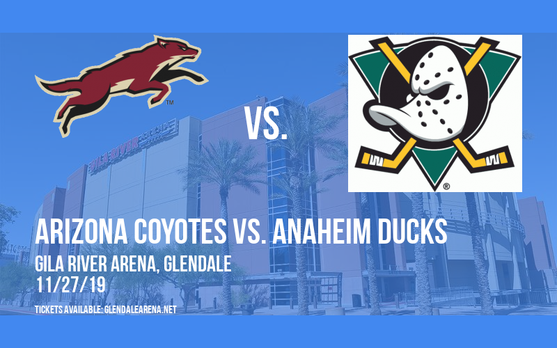 Arizona Coyotes vs. Anaheim Ducks at Gila River Arena