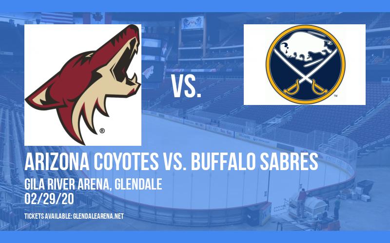 Arizona Coyotes vs. Buffalo Sabres at Gila River Arena