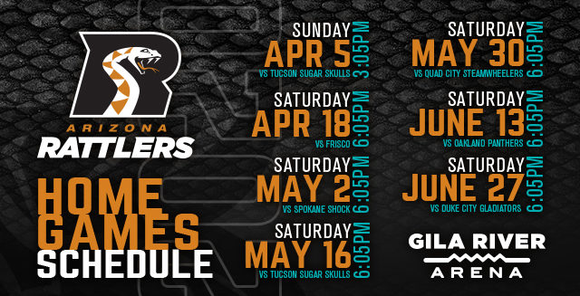 Arizona Rattlers vs. Quad City Steamwheelers at Gila River Arena