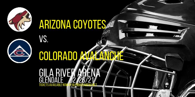 Arizona Coyotes vs. Colorado Avalanche at Gila River Arena