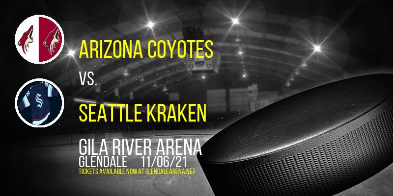 Arizona Coyotes vs. Seattle Kraken at Gila River Arena